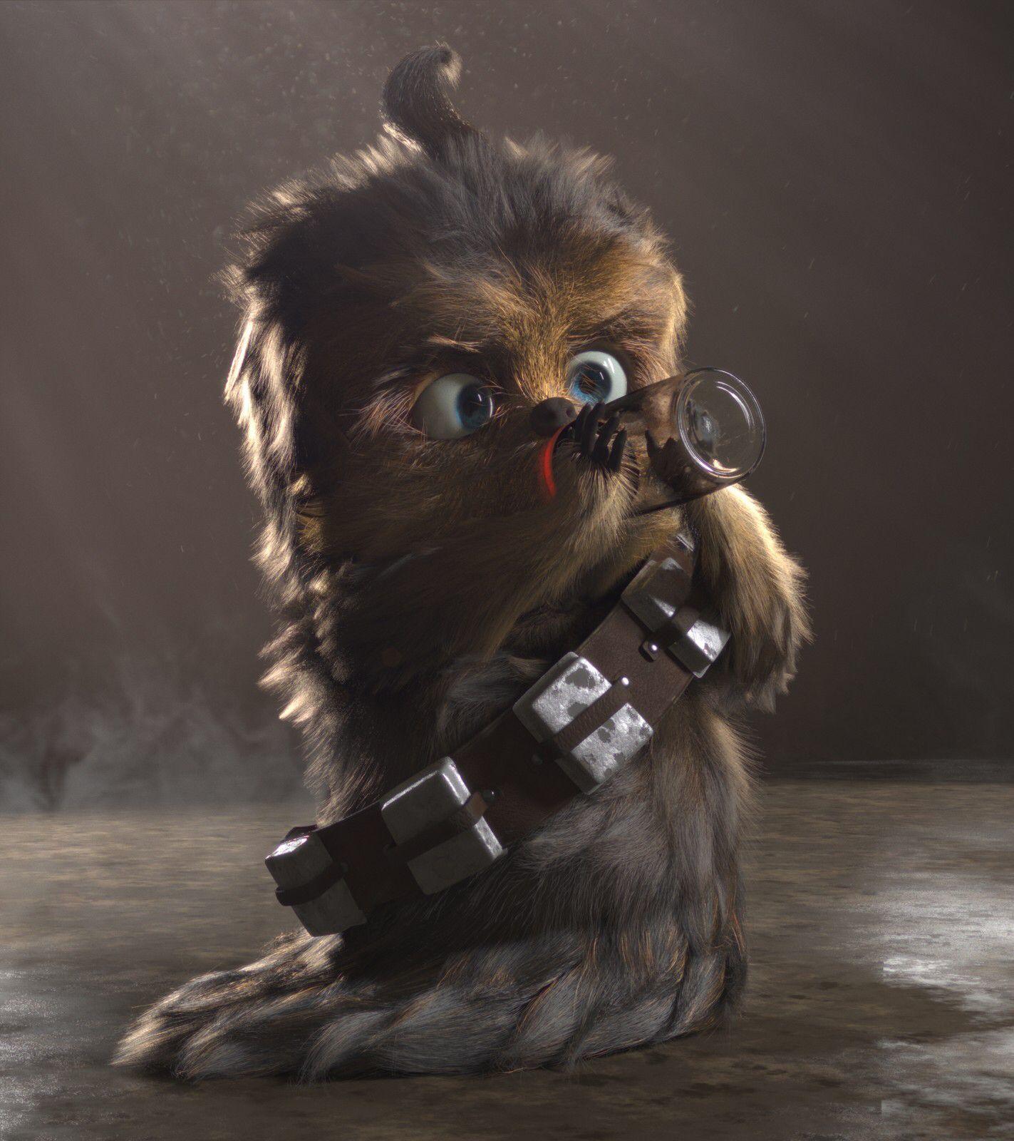 Baby Chewbacca | Star Wars | #starwars #starwarsart #starwarsfanart #chewbacca #wookie | Star ...