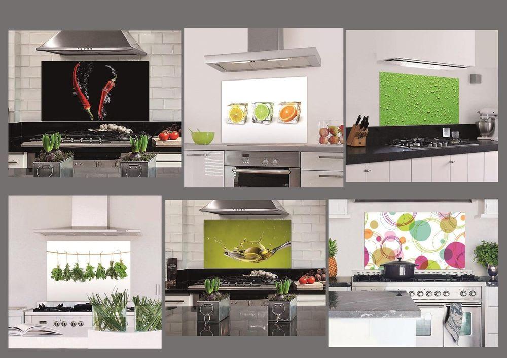 Küchenrückwand Spritzschutz Dekoration Glas Wandbild Sicherheitsglas Kitchen NEU ...