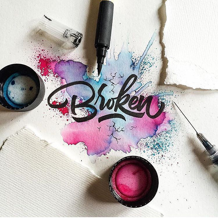 Typography by: @drenueno  #design #ink #illustragram #illustration #graphicdesign #type #typography #makeshiftmuse #art #goodtype #color