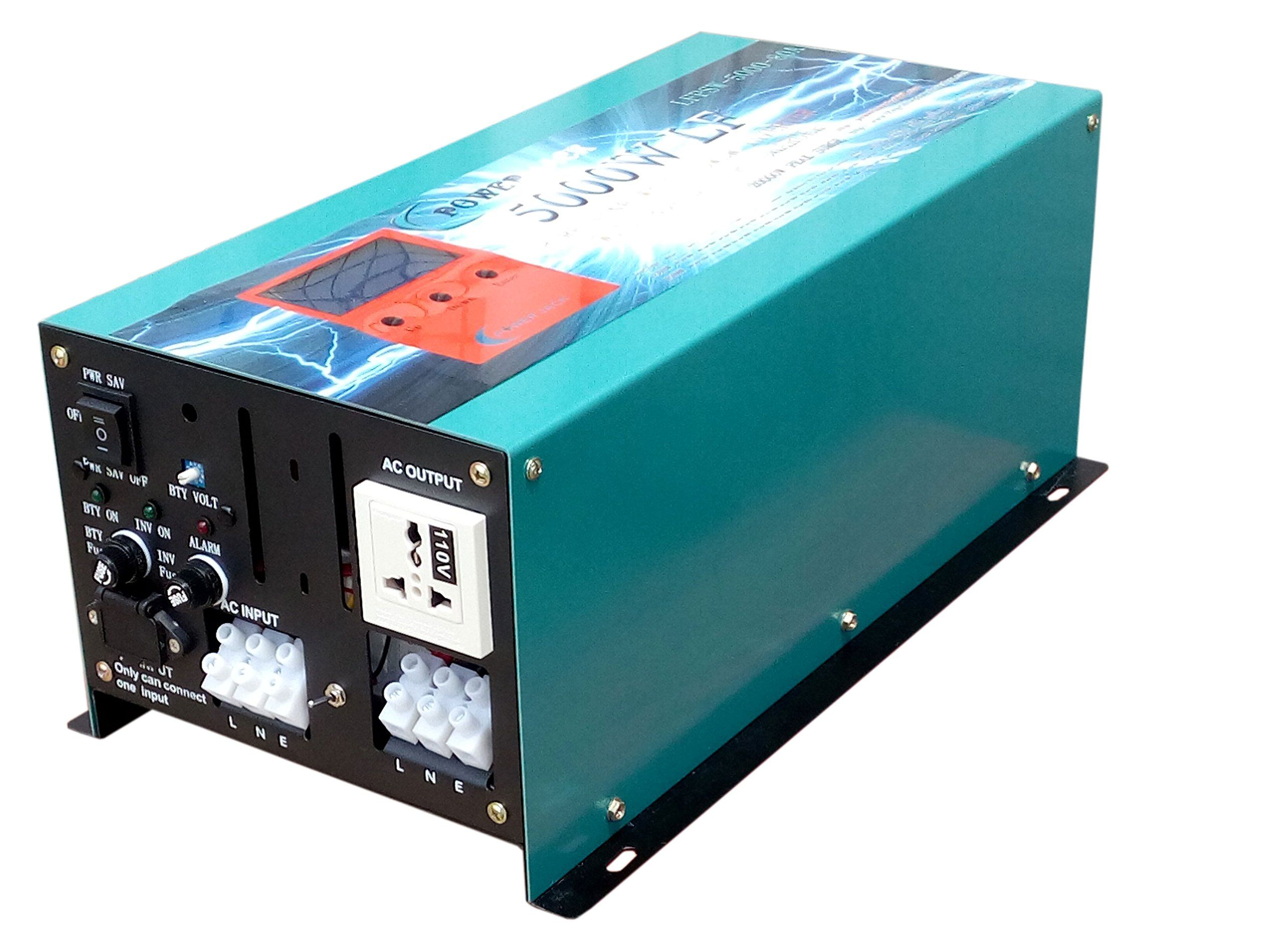 20000W peak 5000W LF Pure Sine Wave Power Inverter DC 12V to AC 110V ...