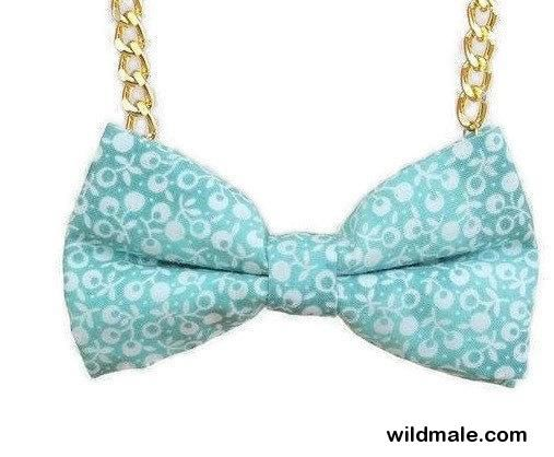 Blue Bow Tie Necklace - Accessories, Statement Necklace, Easy No Tie Bow Tie, Great for Office, Wedding, Photo Prop - Blueberry Haze BBOH18 - http://wildmale.com/blue-bow-tie-necklace-accessories-statement-necklace-easy-no-tie-bow-tie-great-for-office-wedding-photo-prop-blueberry-haze-bboh18