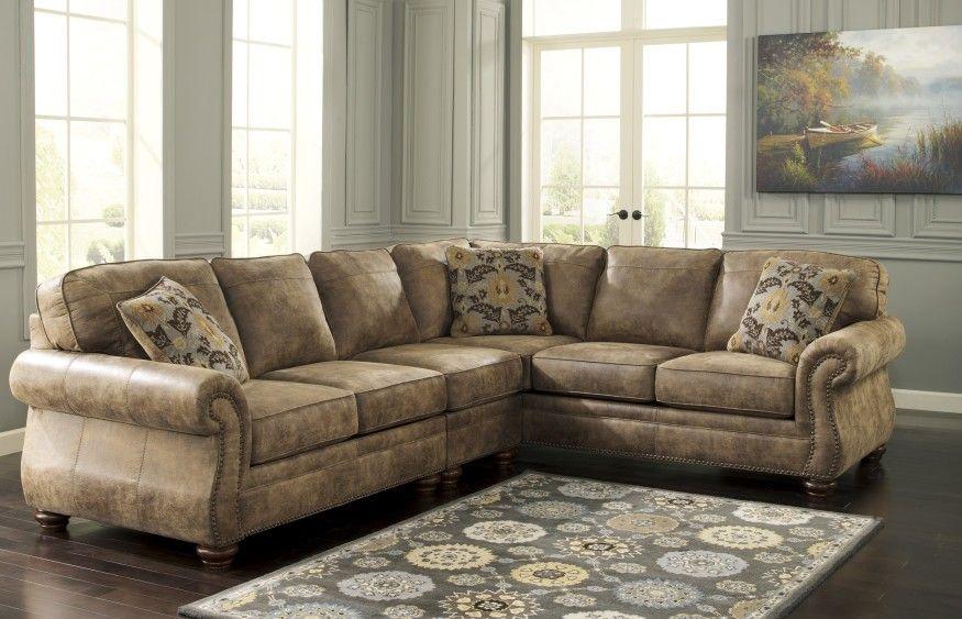 Ashley 319 Larkinhurst Sectional Rustic Sofa 3 Piece Sectional Sofa Ashley Furniture Sofas