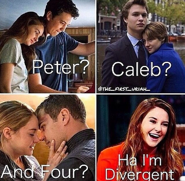 Are the two main characters in divergent dating that would