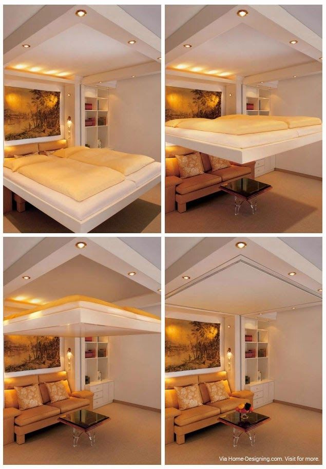 Using Space Saving Bedroom Furniture to Make a Small But Cozy: Superb  Concealed In Ceiling