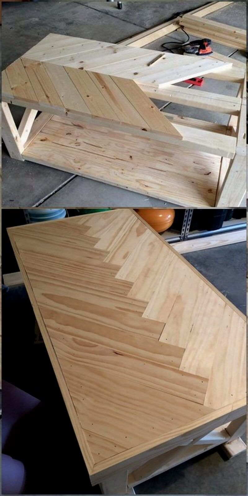 How To Make Furniture From The Wooden Pallet Diy Motivations Diy Furniture Motivations Palle In 2020 Woodworking Projects Diy Wood Table Design Furniture Making