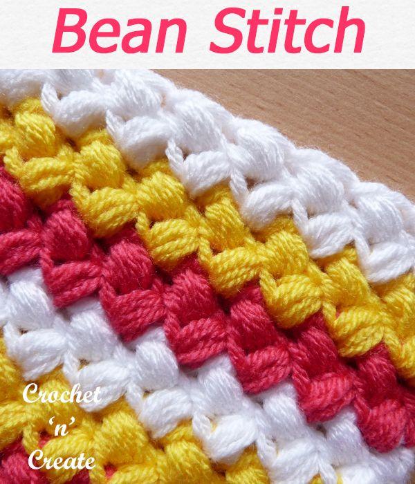 Free Crochet Tutorial Bean Stitch
