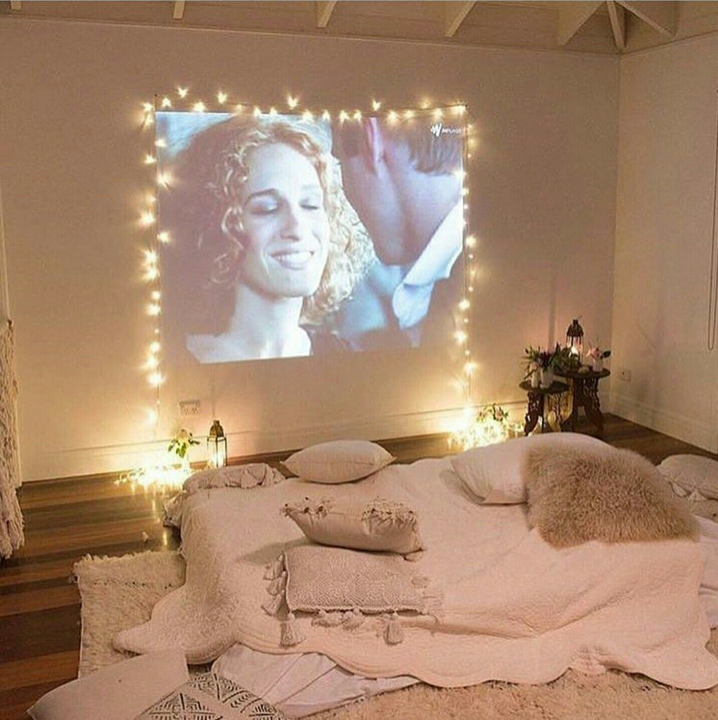 Pin by Sarah Frick on Home Decor Projector in bedroom