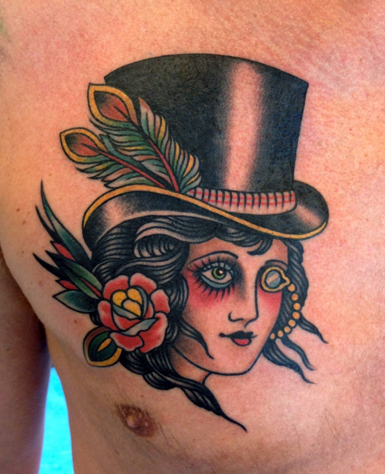 Tattoo School Traditional Nautic Ink - Doll Face Hat Pinup Paul Dobleman
