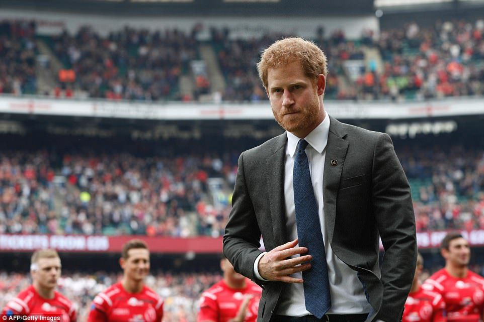 Prince Harry Watches The Army Vs Navy Rugby Match Clash Prince Harry
