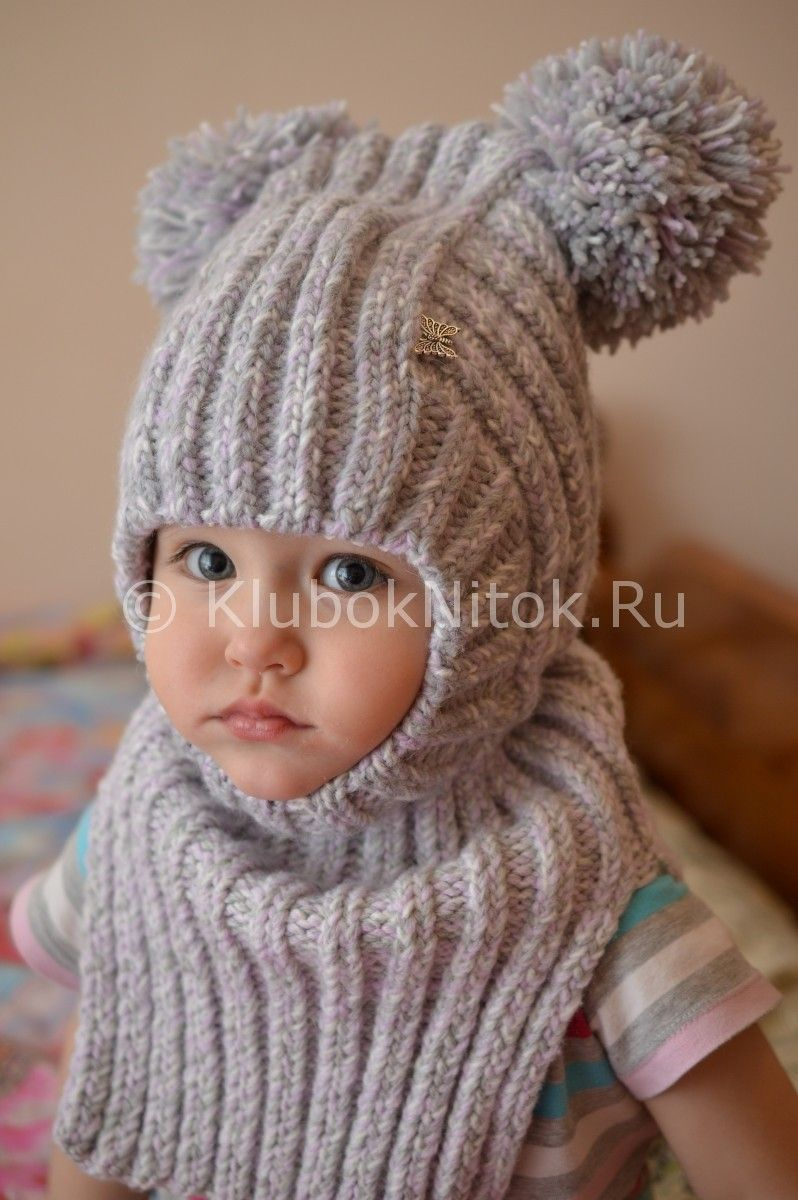 Шапочка-шлем для малышки | Вязание для девочек | Вязание ...