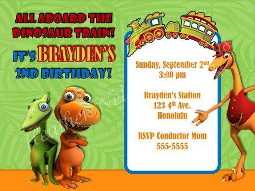 dinosaur train invitation template | party ideas | pinterest, Birthday invitations