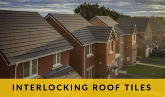 Modern Interlocking Roof Tiles Has A Slate Like Appearance With Interlocking Designs Roof Roof Repair Roof Tiles
