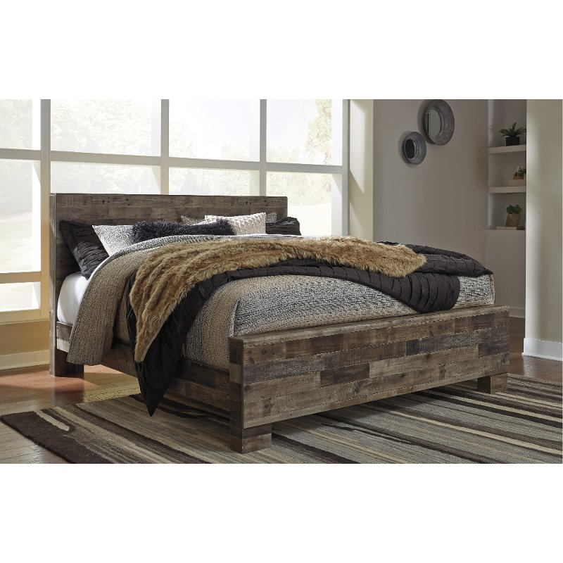 Modern Farmhouse Rustic King Size Bed Broadmore In 2020 Wooden