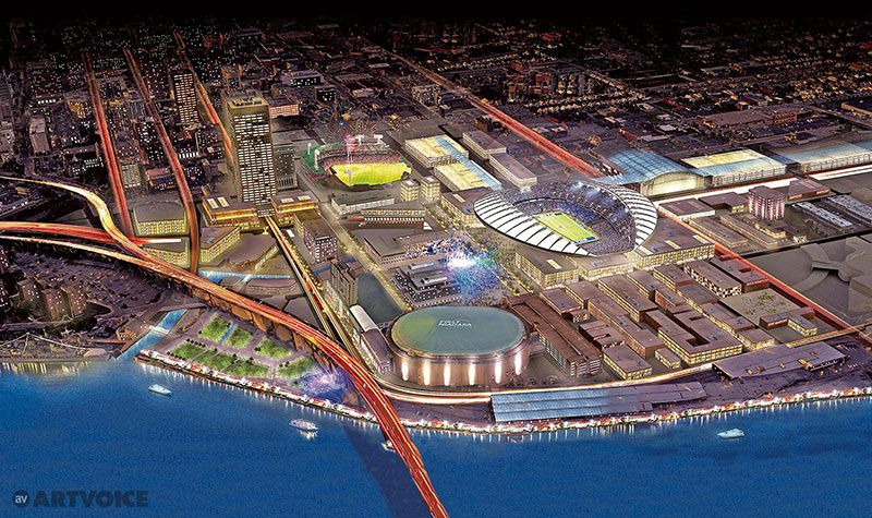 New Nfl Stadium Proposal For Downtown Buffalo Nfl Stadiums New Nfl Stadiums Stadium