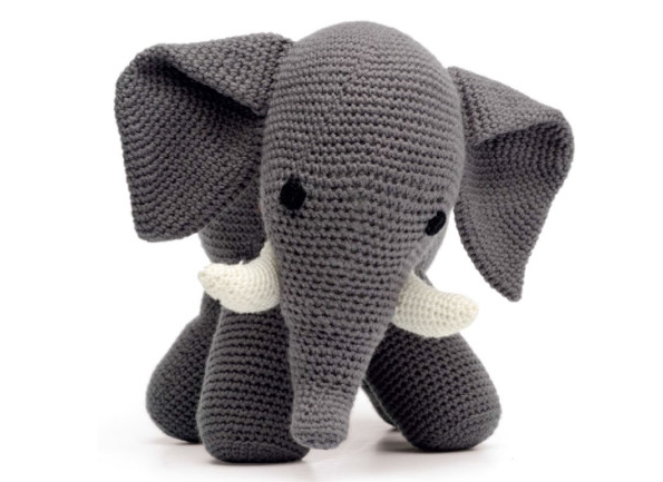 Amigurumi Patterns Elephant : Elephant croche with pattern crochet baby toys amigurumi