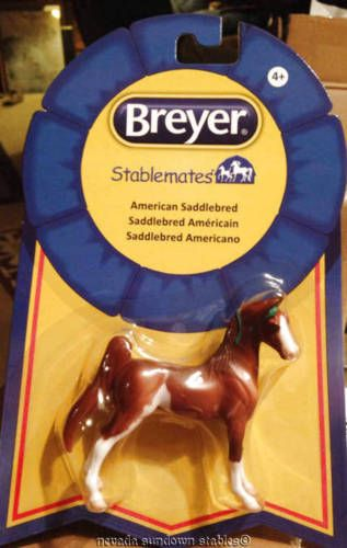 Breyer #horse models new #chestnut #paint stablemate american saddlebred, View more on the LINK: http://www.zeppy.io/product/gb/2/252342520432/