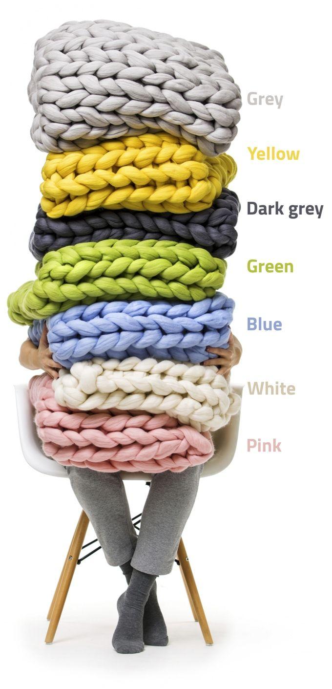 Ohhio. Gorgeous chunky knits by Anna — Kickstarter | Frazadas ...