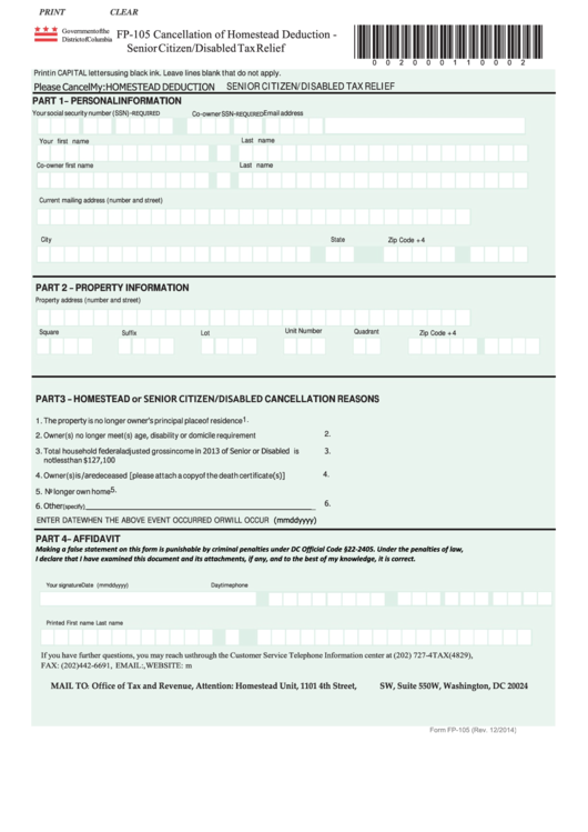 Cancellation Of Homestead Deduction The District Of Columbia Here S A Free Template Create Ready To Use Forms A Deduction District Of Columbia How To Apply