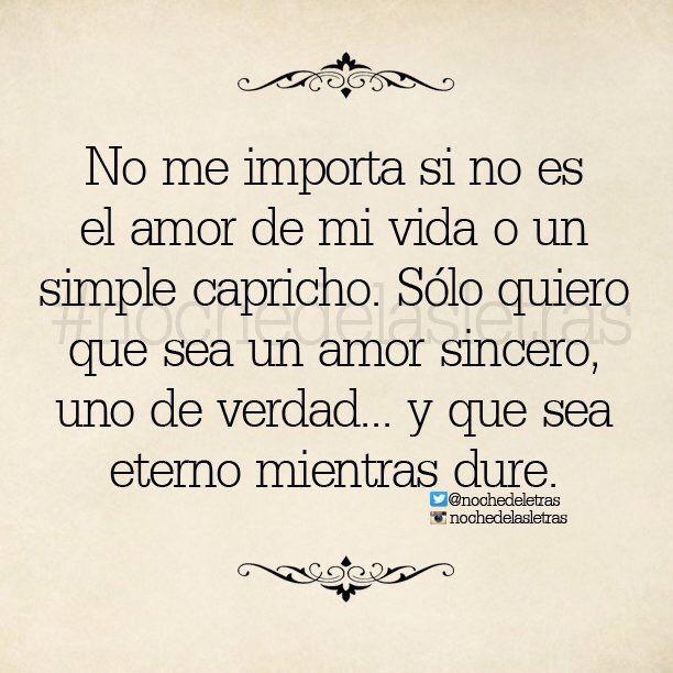 〽️ No me importa si no es el amor de mi vida...