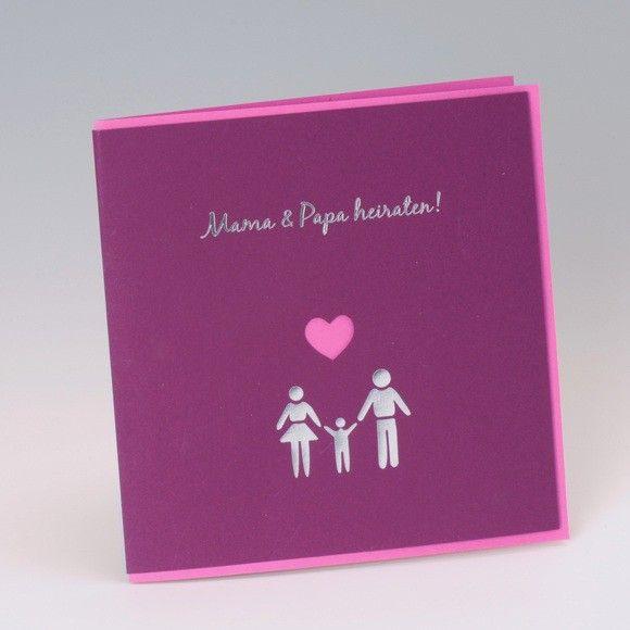 Hochzeitseinladungskarte Mit Mama Und Papa Heiraten