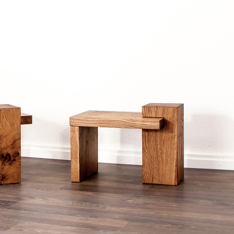 Beistelltisch aus Massivholz Beistelltisch, Tisch, Eiche
