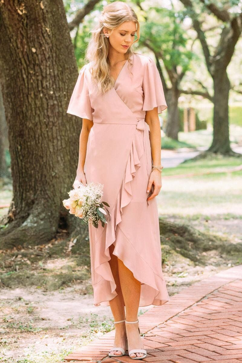 0c11a43eb6deb Willow Wrap Bridesmaid Dress | Dresses in 2019 | Bridesmaid dresses ...