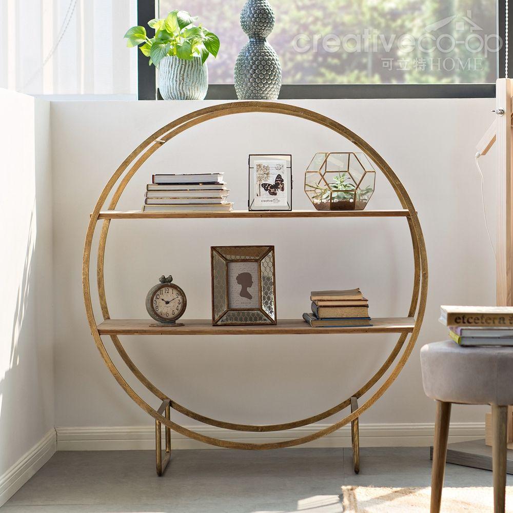 sofia gold wood metal circle shelf racks shelves wall shelves a creative