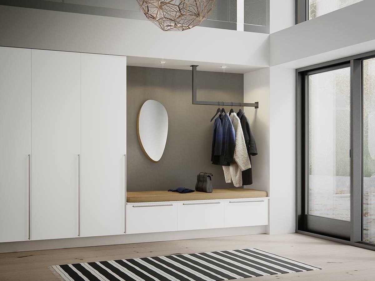 Pin Von Carolin Auf Home Inspiration Garderoben Eingangsbereich Einbauschrank Garderobe Flur Design