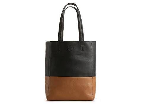 Kelly Katie Two Tone Tote Black White Spring Trend Focus Handbags