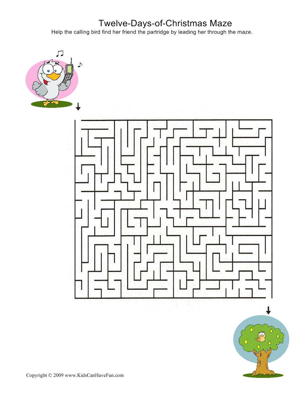 Twelve Days Of Christmas Maze Thanksgiving Activities For Kids Thanksgiving Coloring Pages Thanksgiving Activities [ 1319 x 1019 Pixel ]