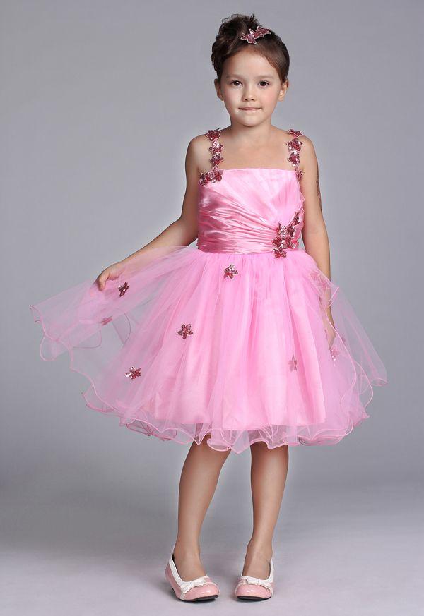 flower girl dresses pink