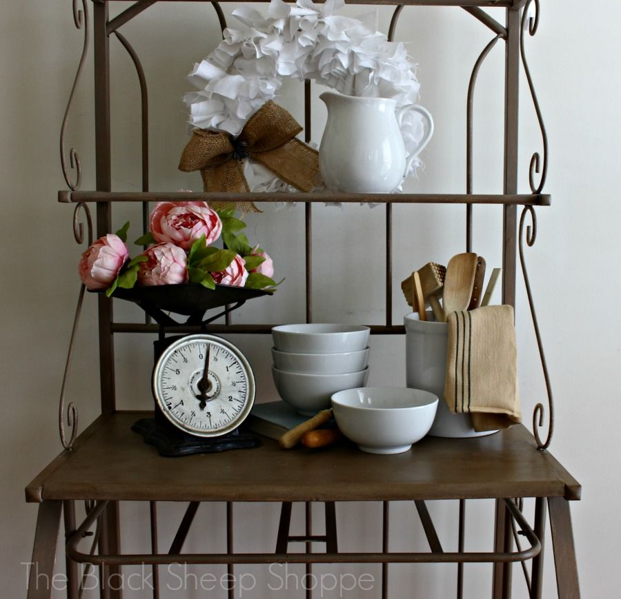 Staging Process For The Bakers Rack With Images Bakers Rack