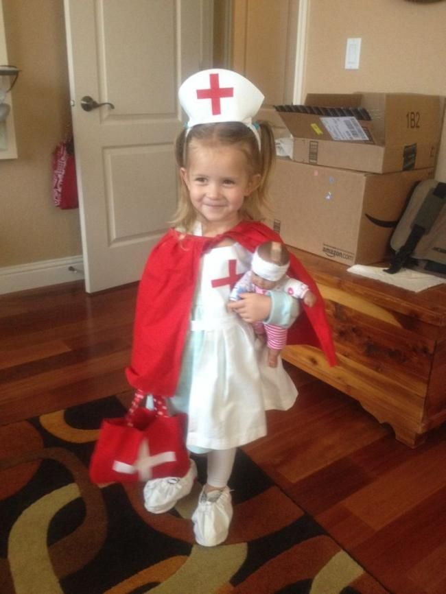 A cute nurse costumes for kids nurse for Cute homemade halloween costumes for girls