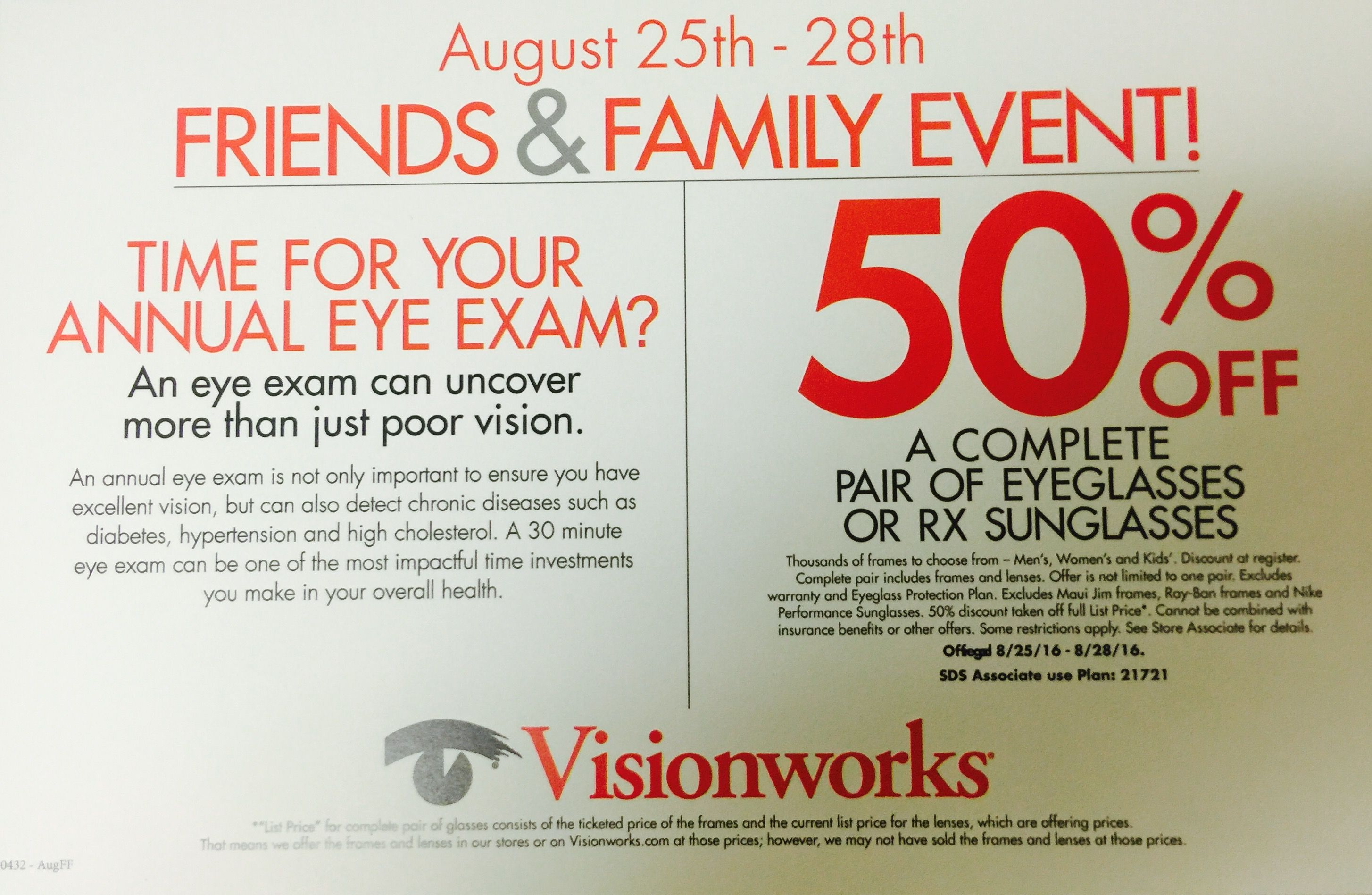 Fort Collins Visionworks Has An Exclusive Offer For 50 Off Glasses