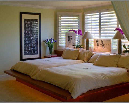 Two Queen Sized Beds Bedroom Design Ideas Pictures Remodel Decor Asian Bedroom Bedroom Design Double Queen Bed