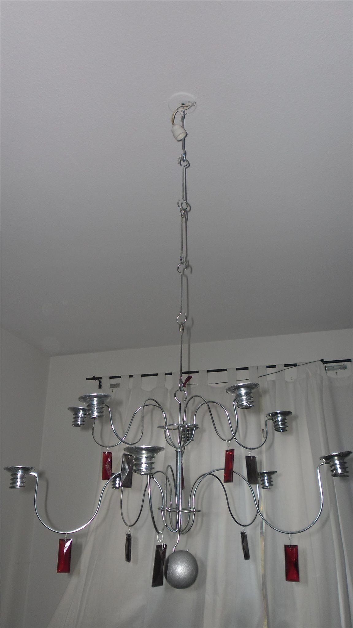 Annons på Tradera: 10 armad ljuskrona sirlig från IKEA med