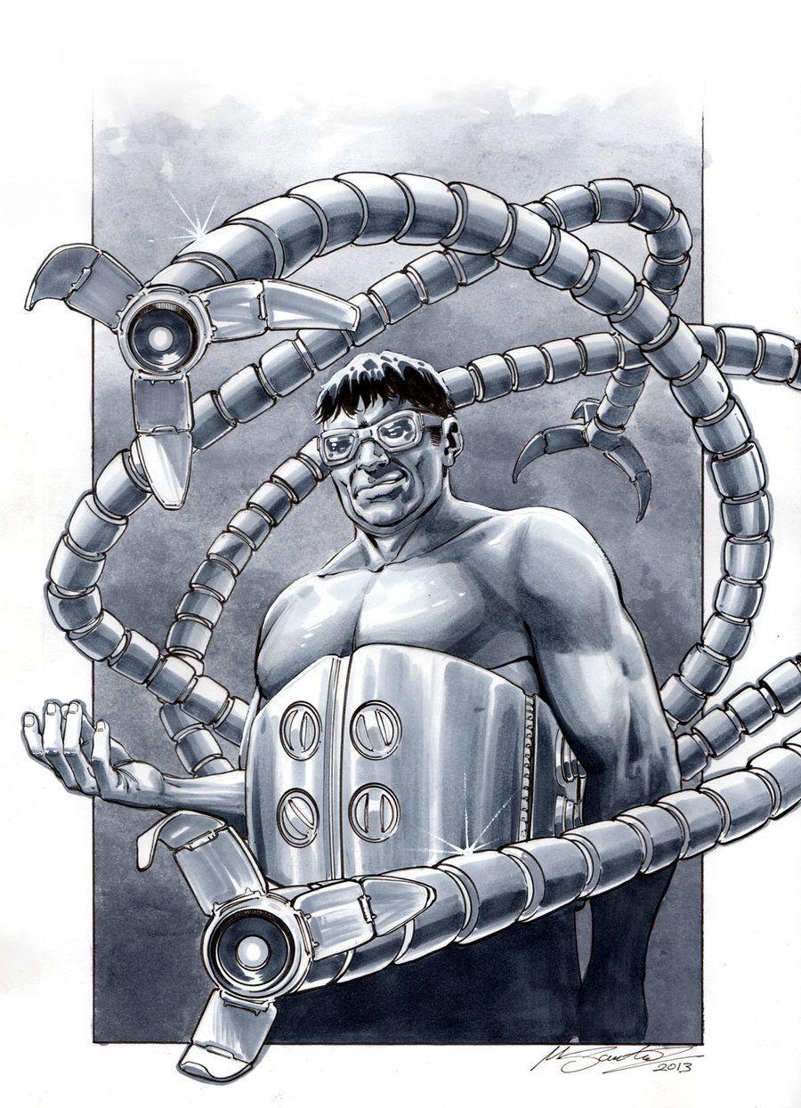 Doctor Octopus By Mrno74 Deviantart Com On Deviantart Art Comic Villains Comic Art