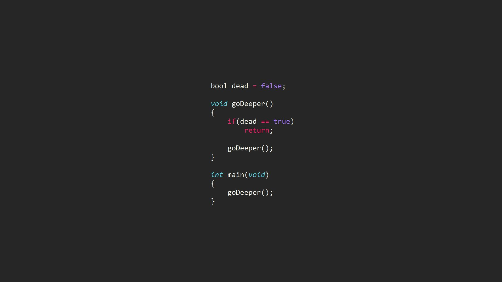 Multicolored Text On Black Background Code Computer Syntax Highlighting Inception Programming Programming Language In 2020 Code Wallpaper Computer Wallpaper Coding