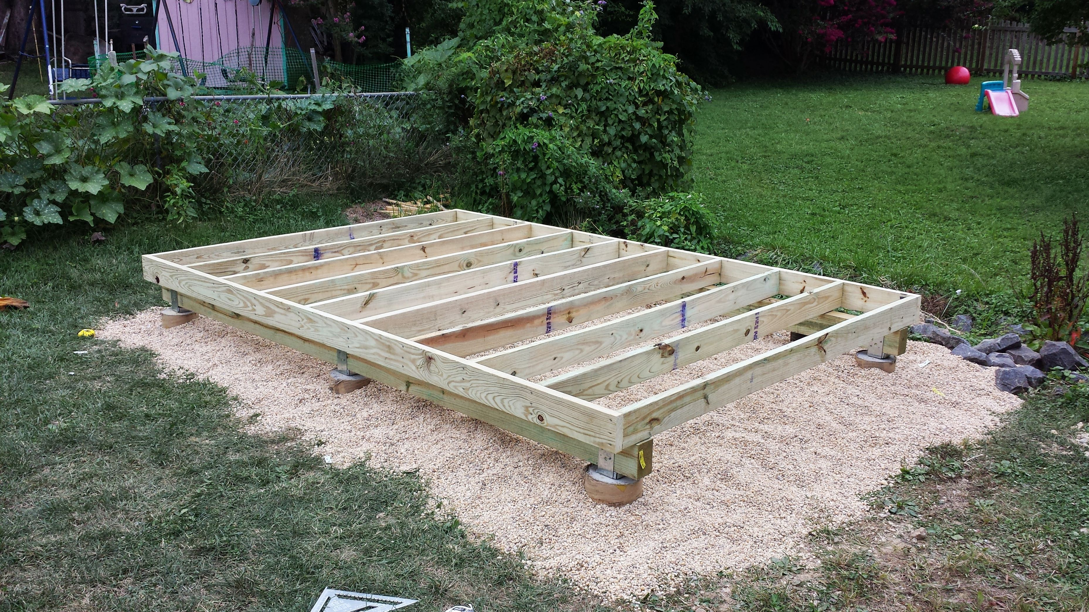 4x4 skid foundation - Google Search | For the Home | Shed ...