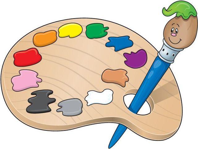 Maestra De Infantil Dibujos Para Colorear Igual Que El Modelo Paletas De Pintura Paletas Pintadas Cliparts Gratuitos