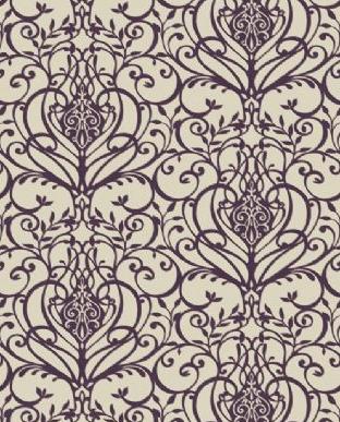 Palmiro Plum Wallpaper Wallpaper Damask