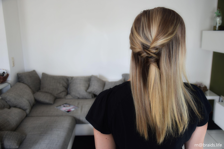 Halfup Pull Through Braids Life Frisur Halboffen Glatt Haare Halb Hochgesteckt Lange Haare