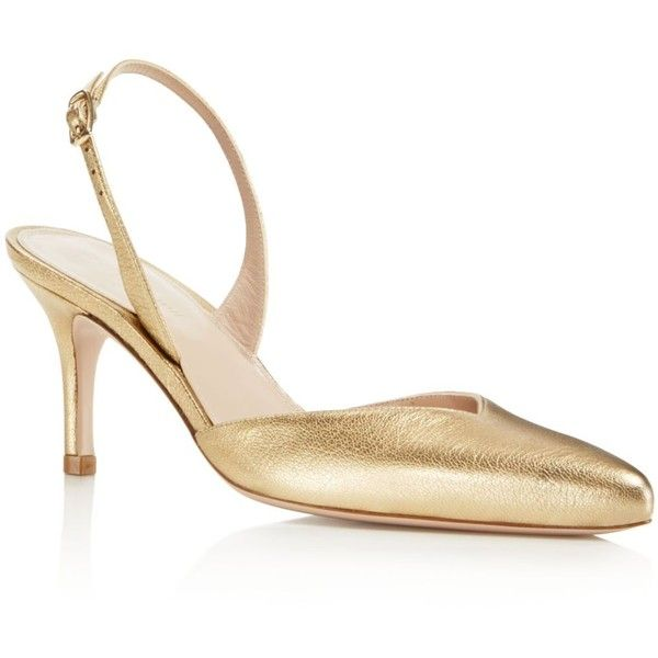 Stuart Weitzman Leather Slingback Pumps buy cheap buy online shop from china under $60 cheap price p7fz1DQ7l