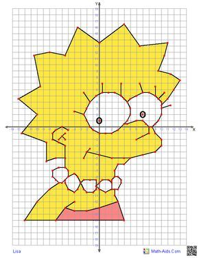 Graphing Worksheets Four Quadrant Graphing Characters Worksheets Coordinate Graphing Coordinate Graphing Pictures Graph Drawings With Coordinates Math aids graph worksheets answers