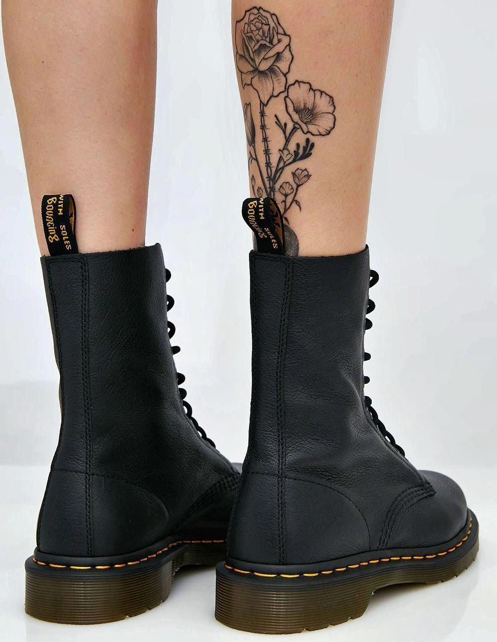 Black Vegan leather boots by Dr Martens
