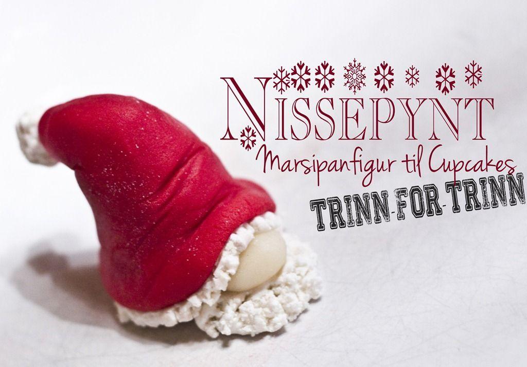 Hvordan lage Nissepynt til Cupcakes {Trinn-for-trinn} - ToneroseDesign