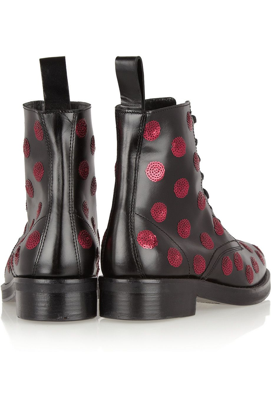 Markus Lupfer Sequined polka-dot leather boots NET-A-PORTER.COM