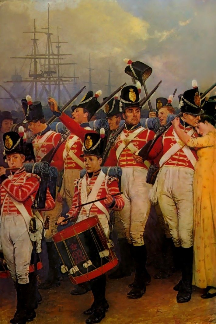 The Girl I Left Behind Me By Charles Green Napoleonic War Art