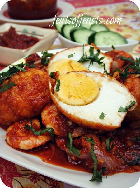 Sambal Eggs And Prawns Feats Of Feasts Board 6 Prawn Malaysian Food Indonesian Food