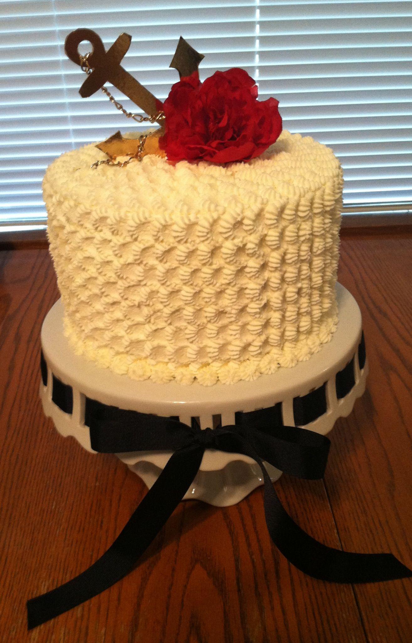 Anchor cake / Navy Cake / Red, White, & Blue Cake | Fancy Cakes ...